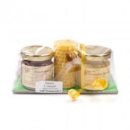 Honig Geschenkset mit Kerzchen (2x50g)