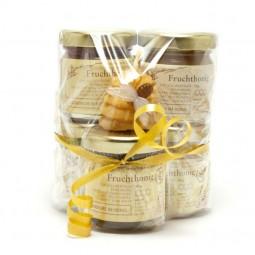 Honig Geschenkidee mit Kerzchen (5x50g)