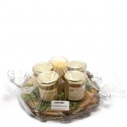 Honig Geschenkset mit Kerzchen (5x50g)
