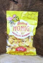 Gefüllte Honigbonbons mit Milch