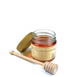 Sommerblütenhonig (250g) mit Honiglöffel